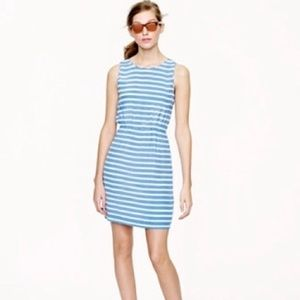 J. Crew Blue And White Stripes Dress